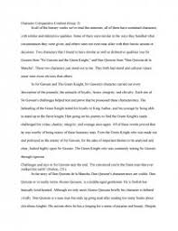 comparative essay on don quixote and sir gawain essay zoom zoom
