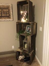 furniture for corners of a living room rustic crate shelf unit with  basketball tennis shoes nail