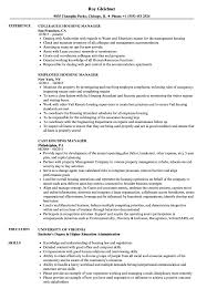 Higher Education Administration Resume Templateample Examples