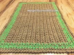 doormat twine jute doormat handmade welcome rug custom border color no 019