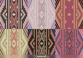 Boho Patterns Fascinating Set Of Aztec Boho Patterns And Designs Vector Pattern Design By