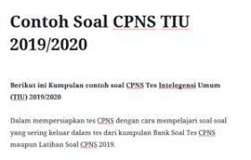 Agar kamu bisa lanjut pada… Contoh Soal Tes Intelegensi Indonesia Power Jawabanku Id