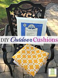how to make inexpensive outdoor seat cushions super easy