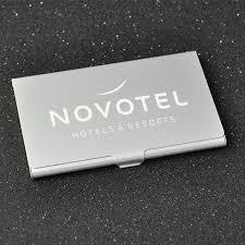Custom Logo Laser Engraving Metal Aluminum Business Card Case