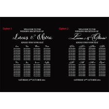 Vinyl Seating Chart Custom Wedding Table Seating Chart Plan Sticker Vinyl Decal Sign Removable