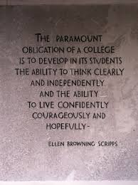 Wonderful Quote About College Posted At The Gates Of Scripps