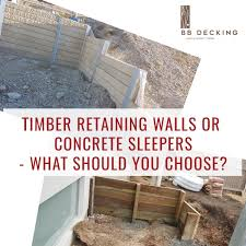 timber retaining walls or concrete
