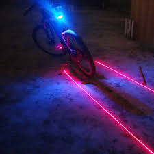 Ems Bicycle Lights 5led 2laser New Waterproof Bicycle Rear Light Have 7 Cool