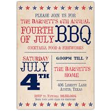 Star Spangled 4th Of July Invitations