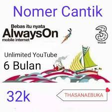 Cari toko terdekat di sini. Jual Perdana Tri Nomer Cantik Ada Kuota 6gb Unlimited Youtube 6bulan 32k Kota Surabaya Thasanaebuka Tokopedia
