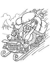 Grinch Stole Christmas Coloring Pages Grinch