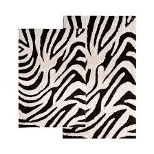 Zebra Bathroom Rug Animal Skin Bath Rug Zebra Pattern Chesapeake Merchandising