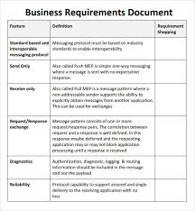 Business Requirement Example Business Requirements Document Sample Under Fontanacountryinn Com