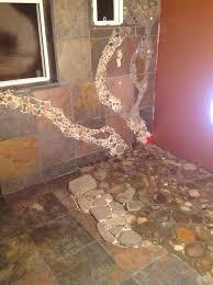 Cheap flooring ideas Plywood River Rock Shower Floor Going Cheap Flooring Ideas Pinter River Rock Flooring Bathroom Dforgeco River Rock Shower Floor Going Cheap Flooring Ideas Pinter Floor Beds