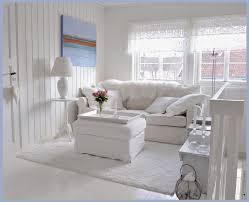 White Romantic Shabby Chic Living Room Amazing Design