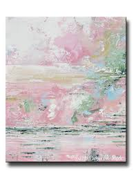 giclee print art abstract pink white painting modern wall decor textured grey navy blue palette knife