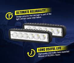 911 Led Light Bar Lightfox 6inch Led Light Bar 1 Lux 150m Ip68 Rating 6000
