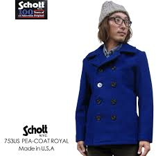 schott 753us wool melton pea coat made in usa 753 synonymous schott can call us ウールメルトン picot seems to be made in united states and high quality