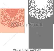 Invitation Envelope Template Laser Cut Envelope Template