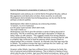 explore shakespeare s presentation of jealousy in othello gcse  document image preview