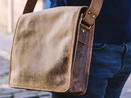 Men's Ipad Leather Messenger Bag