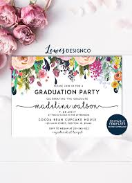 Design Grad Party Invites Graduation Party Invitation High School Graduation Invite