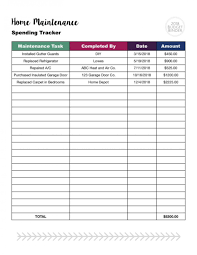 Home Maintenance Tracker 012 Simple Budget Worksheet Dave Ramsey Spreadsheet Excel