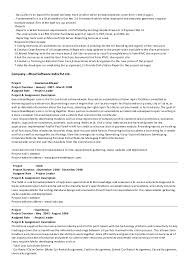 Mvc Resume Sample