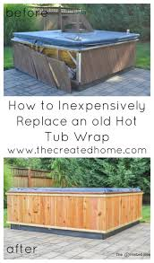 replace hot tub wrap re diy