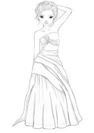 Topmodel Google Zoeken Color Pages Model Dress Drawing