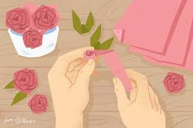 Paper Flower Folding Make An Easy Origami Rose