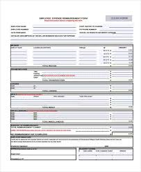 expense reimbursement form doc sample employee expense reimbursement forms 7 free documents in