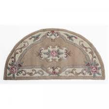 lotus premium aubusson fawn half moon rug by flair rugs