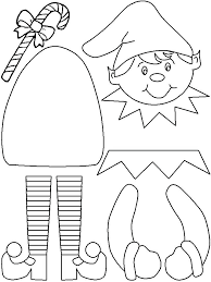 Elf Printable Coloring Pages Hand Craft For Kids Make Your Own Elf