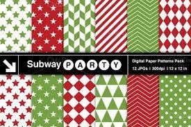 Xmas <b>Red Green Geometric</b> Papers. Christmas <b>Patterns</b>. $3.00 ...