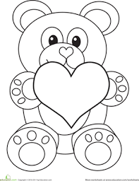 Small Picture Valentines Day Coloring for Preschool Educationcom