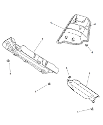2001 chrysler town country heat shields exhaust diagram 00i47902