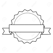Ribbon Banner Template Black And White Label Ribbon Banner Blank Template Vector Illustration