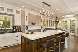 Granite Kitchen Island With Seating Large Kitchen Island Designs With Seating And White Granite