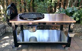 weber grill table this custom table was built with a beautiful copper top to accommodate a