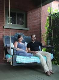 How To Build A Porch Swing Diy Porch Swing Featuring A Repurposed Headboard