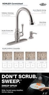 Moen Kitchen Faucet Warranty Kohler Carmichael Single Handle Pull Down Sprayer Kitchen Faucet