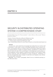Distributed Operating Systems Concepts And Design Pdf Download Pdf Security In Distributed Operating System A