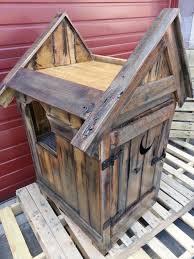 pallet outhouse cat litter cabinet cat litter cabinet diy