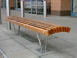 contemporary metal furniture. public bench contemporary wooden metal louvre furniture