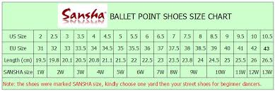Ballet Pointe Shoes Size Chart 2019 Wholesale Sansha F R Duval Women Ballet Pointe Dance Shoes German Satin Material Ribbons Included Different Hardness Shank For Choose From