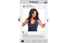 instagram photo frames props printed