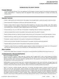 Assistant Warehouse Manager Job Description Stocker Job Description Resume For Resumes Spacesheep Co
