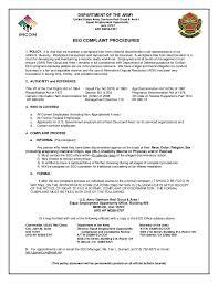 Eeo Complaint Procedures