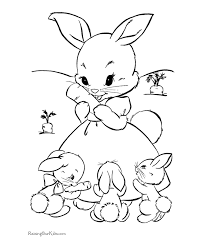 Cute Bunny Rabbit Coloring Pages Funny Black And White Unny Easter